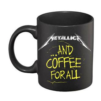 Cană ceramică Metallica - And Coffee For All Matt - Black, Metallica