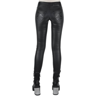 Pantaloni de damă KILLSTAR - Nocturnal Coated Jeans - BLACK - KSRA001523