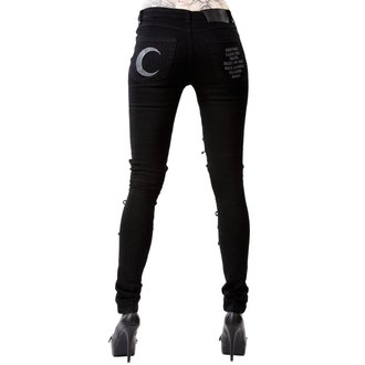 Pantaloni damă ILLSTAR - PHASED OUT JEANS - BLACK, KILLSTAR