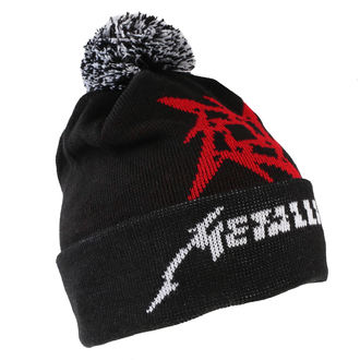 Căciulă Metallica - Glitch Star Logo - Black Woven Bobble, Metallica
