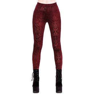 Pantaloni damă (colanți) KILLSTAR - Saiph - WINE, KILLSTAR