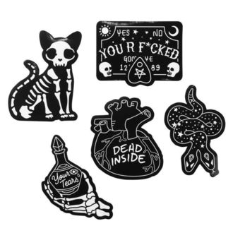 Autocolante (set) KILLSTAR - Stick It Sticker - BLACK, KILLSTAR