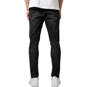 Pantaloni bărbătești URBAN CLASSICS - Skinny Ripped Stretch Denim, URBAN CLASSICS