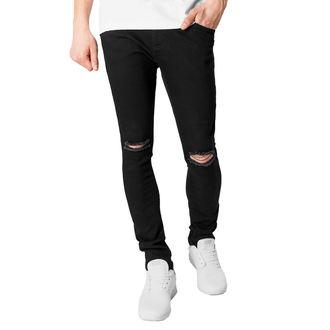 Pantaloni bărbătești URBAN CLASSICS - Slim Fit Knee Cut Denim, URBAN CLASSICS