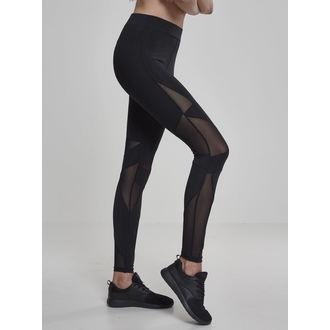 Pantaloni damă (colanți) URBAN CLASSICS - Triangle Tech Mesh - blk / blk, URBAN CLASSICS