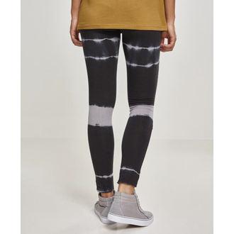 Pantaloni damă (colanți) URBAN CLASSICS - Tie Dye Biker - blk / lt.grey, URBAN CLASSICS