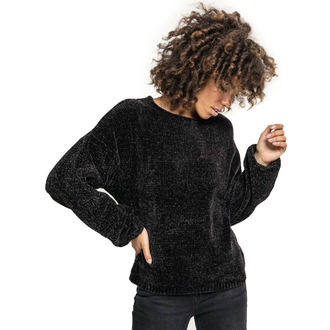 Pulover damă URBAN CLASSICS - Chenille - black, URBAN CLASSICS
