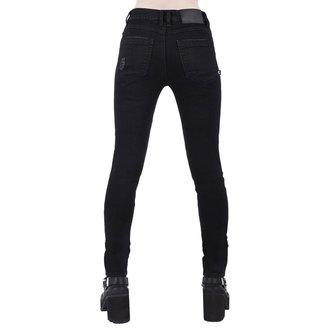 Pantaloni damă KILLSTAR - Trash Talk Jeans - BLACK, KILLSTAR