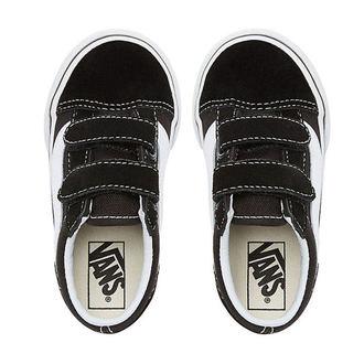 adidași scurți copii - UY OLD SKOOL V Black/True White - VANS