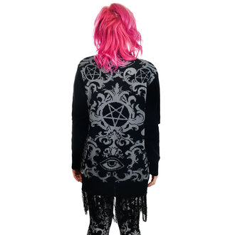 Pulover damă (bluză) TOO FAST - BAROQUE VICTORIAN GOTHIC PENTAGRAM LONG0FRINGE, TOO FAST