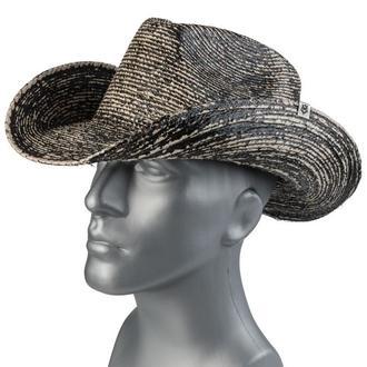 Pălărie WORNSTAR - Hellrider Black & Natural Rocker Cowboy, WORNSTAR
