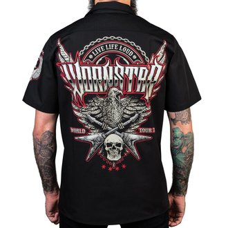 Cămașă bărbătească WORNSTAR - Screaming Eagle - Black, WORNSTAR