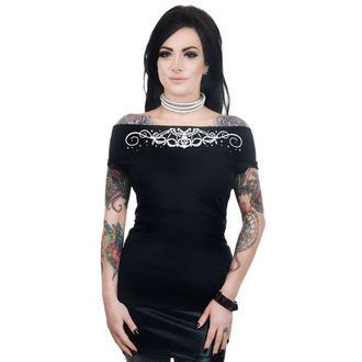 tricou stil gotic și punk femei - FOXY OFF THE SHOULDER - TOO FAST, TOO FAST