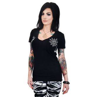 tricou stil gotic și punk femei - HEART SPIDER WEBS - TOO FAST, TOO FAST