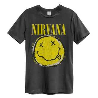 tricou stil metal bărbați Nirvana - Worn Out Smiley - AMPLIFIED
