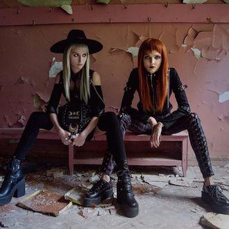Șosete peste genunchi KILLSTAR - Zoey - BLACK, KILLSTAR