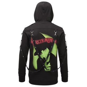 Hanorac cu glugă unisex KILLSTAR - Marilyn Manson -Smells Like Manson - Black, KILLSTAR, Marilyn Manson