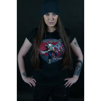 tricou stil metal femei Iron Maiden - Trooper Red Sky - ROCK OFF, ROCK OFF, Iron Maiden