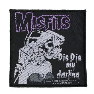 Petic MISFITS - DIE DIE MY DARLING - RAZAMATAZ, RAZAMATAZ, Misfits