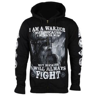 hanorac cu glugă bărbați - I AM A WARRIOR - VICTORY OR VALHALLA, VICTORY OR VALHALLA