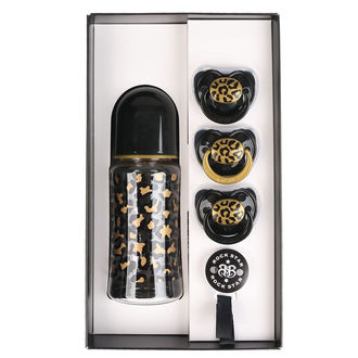Set cadou bebeluș  ROCK STAR BABY - GOLD LEOPARD, ROCK STAR BABY