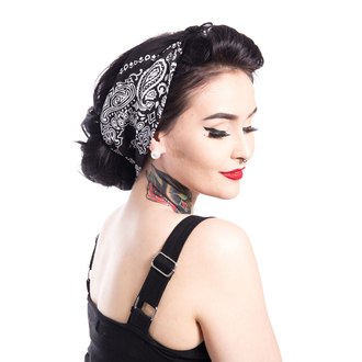 Basma ROCKABELLA - BAND ONE BANDANA - BLACK, ROCKABELLA