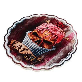 Decorațiune de perete/ farfurie de servit/ stativ ALCHEMY GOTHIC - Skull Cupcake, ALCHEMY GOTHIC