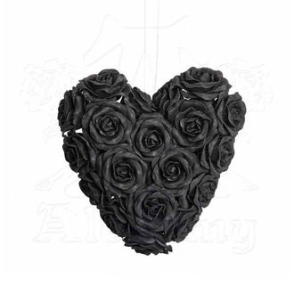Decorațiune ALCHEMY GOTHIC - Black Rose Heart, ALCHEMY GOTHIC