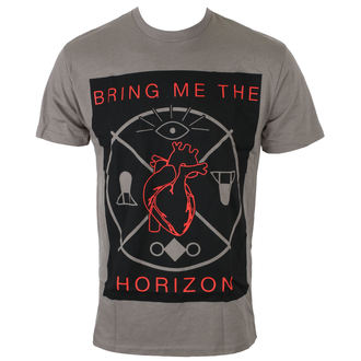 Tricou bărbați Bring Me The Horizon - HEARTS & SYMBOLS - GRY - BRAVADO, BRAVADO, Bring Me The Horizon