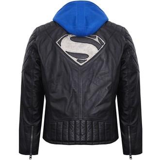 geacă de piele Superman - BLACK -