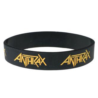Brăţară din cauciuc Anthrax - ROCK OFF, ROCK OFF, Anthrax