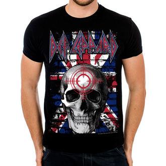 tricou stil metal bărbați Def Leppard - Union Jack Skull - HYBRIS, HYBRIS, Def Leppard