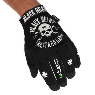 Mănuși BLACK HEART - BASTARD SKULL - BLACK, BLACK HEART