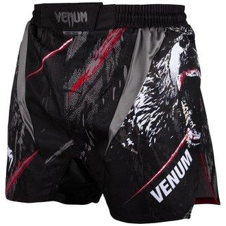 Pantaloni scurți bărbătești de box  (fightshorts) Venum - Grizzli - Black / White, VENUM
