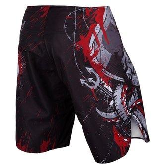 Pantaloni scurți box VENUM - Pirate - Black / Red, VENUM