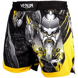 Pantaloni scurți bărbătești de box (fightshorts) Venum - Viking 2.0 - Black / Yellow, VENUM