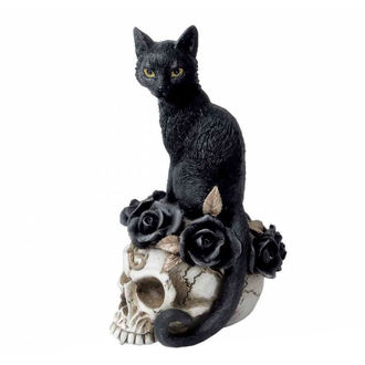 Decorațiune ALCHEMY GOTHIC - Black Cat & Skull, ALCHEMY GOTHIC