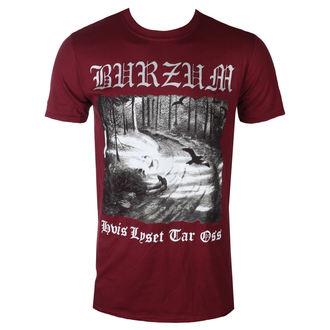 tricou stil metal bărbați Burzum - HVIS LYSET TAR OSS (MAROON) - PLASTIC HEAD, PLASTIC HEAD, Burzum