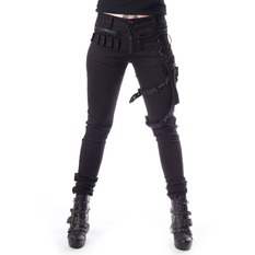 Pantaloni damă Heartless - ISAK - BLACK, HEARTLESS