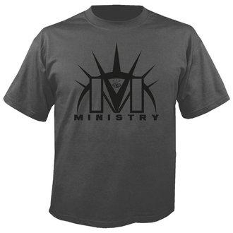 tricou stil metal bărbați Ministry - Logo GREY - NUCLEAR BLAST, NUCLEAR BLAST, Ministry