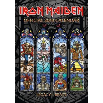 Calendar pentru anul 2019 IRON MAIDEN, NNM, Iron Maiden