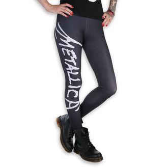 Pantaloni damă (colanți) - Metallica - Logo - Black / White, PAMELA MANN