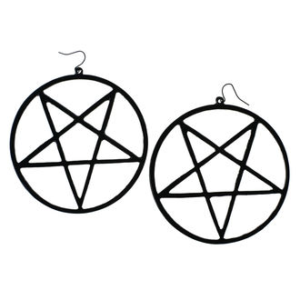 Cercel Luciferothica - Huge Inverted Pentagram - Black, LUCIFEROTHICA
