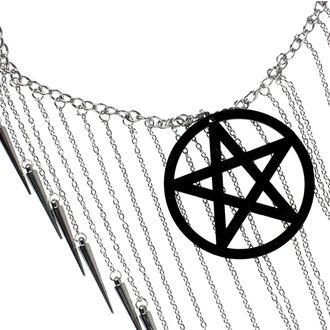 Colier Luciferothica - Pentagram Black, LUCIFEROTHICA