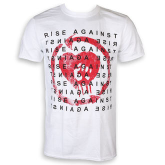 Tricou bărbătesc Rise Against - Block - White - KINGS ROAD, KINGS ROAD, Rise Against