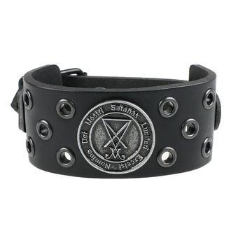 Brăţară Luciferi - ring black, Leather & Steel Fashion