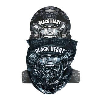 Eșarfă de încălzit gâtul BLACK HEART - PISTON SKULL -BLACK, BLACK HEART
