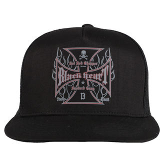 Șapcă BLACK HEART - HOT ROD FLAMES - BLACK, BLACK HEART