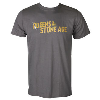 tricou stil metal bărbați Queens of the Stone Age - TEXT LOGO (METALLIC) - PLASTIC HEAD, PLASTIC HEAD, Queens of the Stone Age
