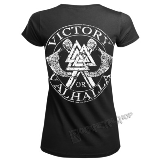 tricou femei - VIKING SKULL - VICTORY OR VALHALLA, VICTORY OR VALHALLA